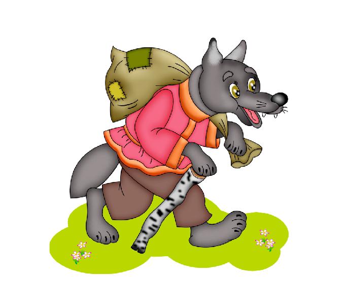 колобок и волк картинки пнг